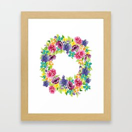 Queen of Wreaths Framed Art Print