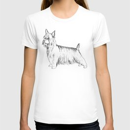 Silky Terrier Ink Drawing T-shirt