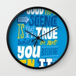 The Good Thing About Science Wall Clock