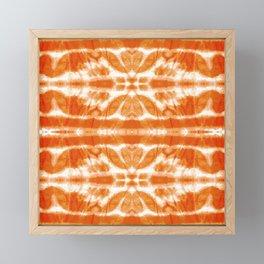 Orange Tie-Dye Twos Framed Mini Art Print
