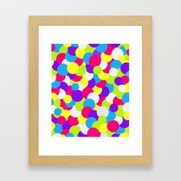 Neon Color Swatches Framed Art Print