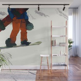 Ready to Ride! - Snowboarder Wall Mural