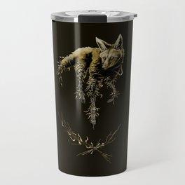 Amber Maned Wolf Travel Mug