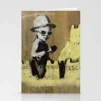 banksy Stationery Cards featuring Banksy on the beach by Shalisa Photography