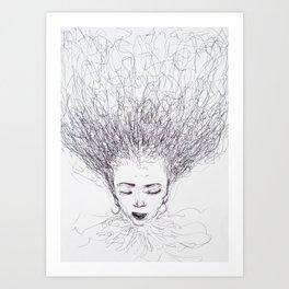 My head is a jungle Art Print