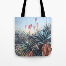 Aloe plant_oil painting Tote Bag