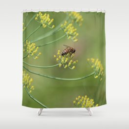 bees and fennel Shower Curtain