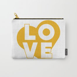 LOVE & heart // mustard Carry-All Pouch
