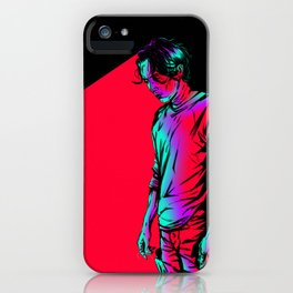 Glenn Rhee - Retrowave iPhone Case