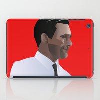 mad men iPad Cases featuring Mad Men star Don Draper by LaRochelle Designs