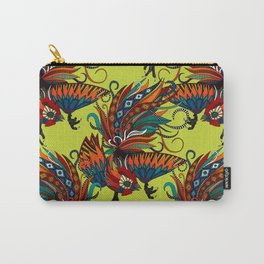 rooster ink chartreuse Carry-All Pouch