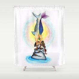 Yogi Kiss Shower Curtain
