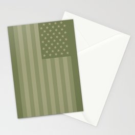 Camo Stars and Stripes – USA Flag in Military Camouflage Colors [FalseFlag 1] Stationery Cards