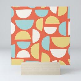 Bauhaus Semicircle Pattern Mini Art Print