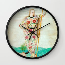 A YOUNG DAUGHTER OF THE PICTS - JACQUES LE MOYNE DE MORGUES Wall Clock