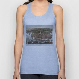 Vintage Pictorial Map of Brooklyn NY (1879) Unisex Tank Top