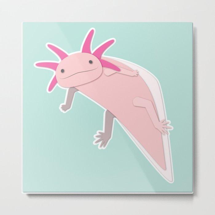 Cute Axolotl Metal Print