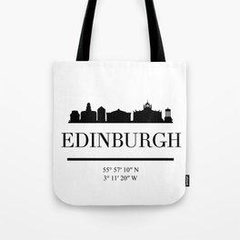 EDINBURGH SCOTLAND BLACK SILHOUETTE SKYLINE ART Tote Bag