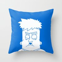 my mad fat diary Throw Pillows featuring Fat Kid by Jonas Pelzer