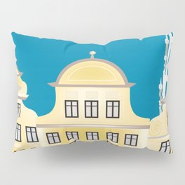 Brussels, Belgium - Skyline Illustration by Loose Petals Pillow Sham