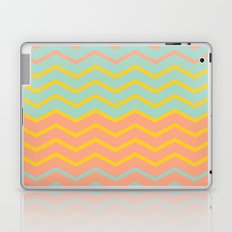 Colorful Chevron on Peach and Mint Laptop & iPad Skin