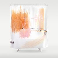 sisters Shower Curtains featuring Sisters by Andooga Design