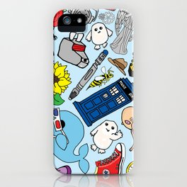 Lord of Time Megamix Blue iPhone Case