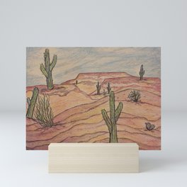 Saguaros in Arizona Mini Art Print
