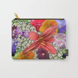 Newt in multi color floral Carry-All Pouch