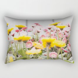Gerber Daisies in Strawberry Lemonade  |  The Fresh Flower Collection Rectangular Pillow