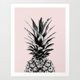 Pineapple in pink Art Print