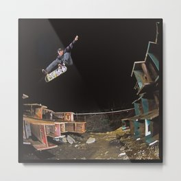 Donny Barley - Skateboard Heelflip Metal Print