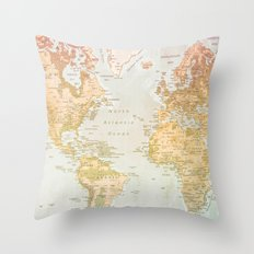 Pastel World Throw Pillow