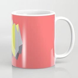 Abstract yellow and gray blocks in 2-point perspective Coffee Mug
