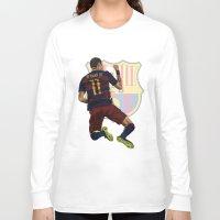 neymar Long Sleeve T-shirts featuring Neymar  by siddick49
