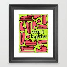 keep it together ii Framed Art Print