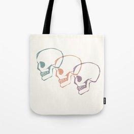 Triplet Skulls Tote Bag