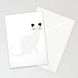 Multilingual cat  Stationery Cards