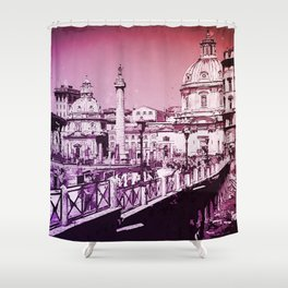The Imperial Fora, Rome Shower Curtain
