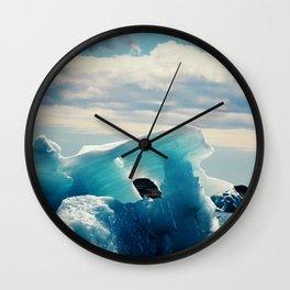 Ice Blue Wall Clock