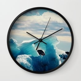 Ice Blue Wall Clock