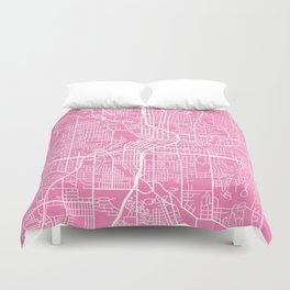 Atlanta map pink Duvet Cover