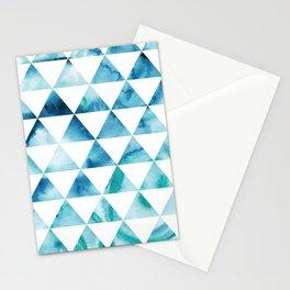Triangle Sky Tie Dye Pattern Stationery Cards
