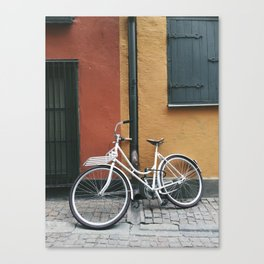 Bicycle in Gamla Stan, Stockholm Sweden Canvas Print