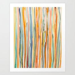 Loose Watercolor Lines 2 Art Print