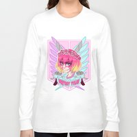teen titans Long Sleeve T-shirts featuring DESTROY TITANS by CLUB GALAXY