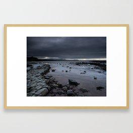 """""""Light in the dark."""" Kilve Beach, Somerset Framed Art Print"""