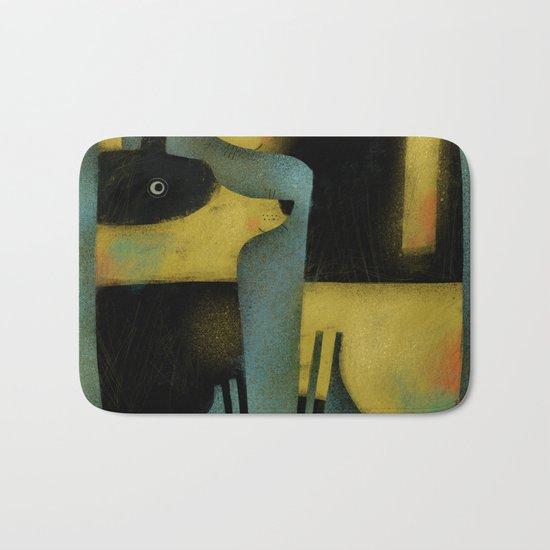 YELLOW AND BLACK HOUNDS Bath Mat