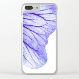 Blue flower abstract watercolor Clear iPhone Case