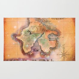 Never Land Map Rug